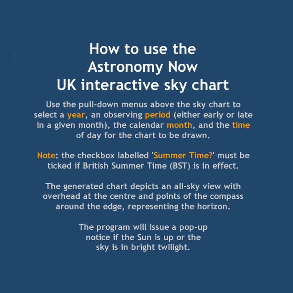 UK Sky Chart Astronomy Now - Star map now